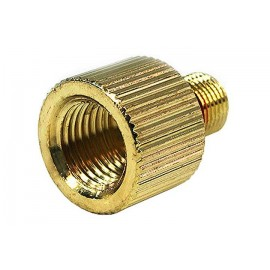 Phobya G1/4 to Eheim 1046 Knurled Outlet Adaptor - Gold Plated (52101)