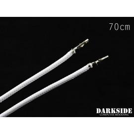 """Darkside 27.5"""" (70cm) Female-Female Pre-Sleeved ATX and PCI-E Wire – White (DS-0648)"""