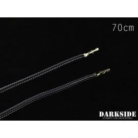 """Darkside 27.5"""" (70cm) Female-Female Pre-Sleeved ATX and PCI-E Wire – Graphite Metallic (DS-0657)"""