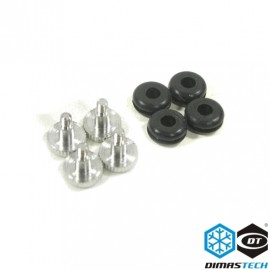 DimasTech® Rubbers & HD Special 6-32 Screws (BT120)