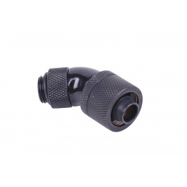 "Alphacool G1/4 3/8""ID x 5/8""OD 45° Revolvable Compression Fitting - Black (17084)"