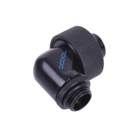 "Alphacool G1/4 1/2""ID x 3/4""OD 90° Revolvable Compression Fitting - Deep Black (17173)"