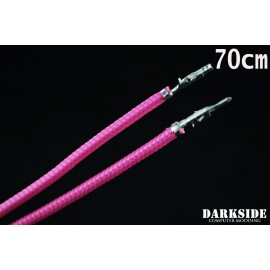 """Darkside 27.5"""" (70cm) Female-Female Pre-Sleeved ATX and PCI-E Wire – Pink (DS-0908)"""