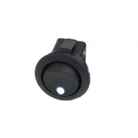 Phobya Round Rocking Switch - ON/OFF - Black - White - Dot LED (71102)