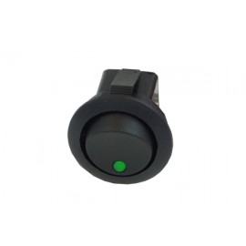 Phobya Round Rocking Switch - ON/OFF - Black - Green - Dot LED (71104)