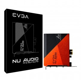 EVGA NU Audio Pro Surround Card, 5.1 Surround, Lifelike Audio, PCIe, Backplate, Designed with Audio Note (712-P1-AN10-KR)