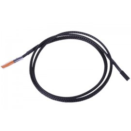 Phobya 2-Pin Temperature Sensor Extension - 80cm | Black (71223)