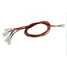 Phobya 3-Pin Fan to 4x 3-Pin Fan Breakout Cable - 60cm (81016)