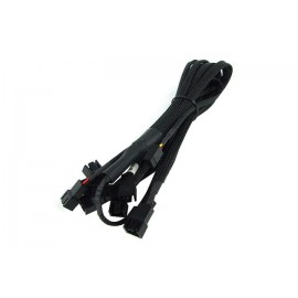 Phobya 3-Pin Fan to 9x 3-Pin Fan Breakout Cable - 60cm | Black (81049)