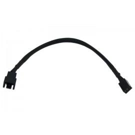 Phobya 3-Pin Fan 12V to 9V Voltage Reducer - 20cm | Black (81080)