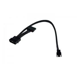 Phobya 4-Pin Molex Passthrough to 3-Pin Fan Cable - 30cm | Black (81119)