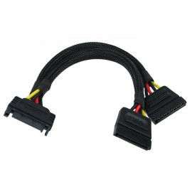 Phobya 5-Pin SATA Power to 2x 5-Pin SATA Splitter Cable - 15cm | Black (87286)