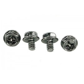 Phobya UNC 6-32 x 5mm Screws - Black Nickel - 4pcs (94577)