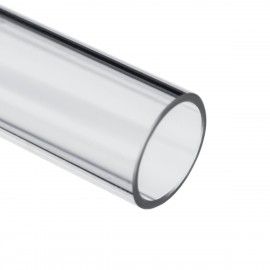 Barrow 12/10mm Acrylic Rigid HardTube (500mm) - Clear (YK12-10)