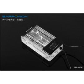 Barrowch 150mm Boxfish Series Acrylic Box Reservoir with OLED Display & D-RGB LED (FBRE1-150Y-Black)