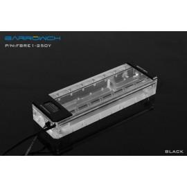 Barrowch 250mm Boxfish Series Acrylic Box Reservoir with OLED Display & D-RGB LED (FBRE1-250Y-Black)