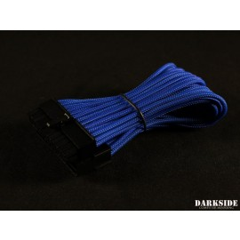 "Darkside 24-Pin ITX 7"" (20cm) HSL Single Braid Extension Cable - Blue (DS-0635)"