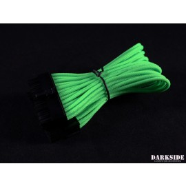 "Darkside 24-Pin ITX 7"" (20cm) HSL Single Braid Extension Cable - Green (DS-0637)"