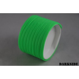 "Darkside 6mm (1/4"") High Density Cable Sleeving - Green UV (DS-0694)"
