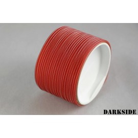 "Darkside 2mm (5/64"") High Density Cable Sleeving - Opaque Red (DS-0731)"