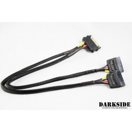 "DarkSide SATA Power Y-cable 12"" (30cm) - Jet Black (DS-0735)"