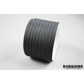 "Darkside 6mm (1/4"") High Density Cable Sleeving - Gun Metal (DS-0842)"