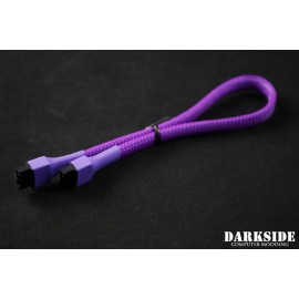 "Darkside 30cm (12"") SATA 3.0 180° to 180°  Data Cable with Latch - UV Purple 7P (DS-0820)"
