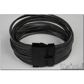 "Darkside 24-Pin ATX 12"" (30cm) HSL Single Braid Extension Cable - Graphite Metallic (DS-HSL-ATX-12GMC)"