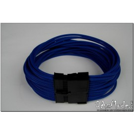 "Darkside 24-Pin ATX 12"" (30cm) HSL Single Braid Extension Cable - Blue UV (DS-0627)"
