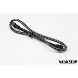 "Darkside 3-Pin 40cm (16"") M/F Fan Sleeved Cable - Graphite Metallic (DS-0245)"