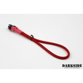 "Darkside 3-Pin 30cm (12"") M/F Fan Sleeved Cable - Red UV (DS-0242)"