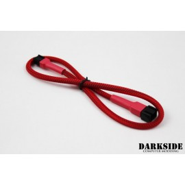 "Darkside 3-Pin 40cm (16"") M/F Fan Sleeved Cable - Red UV (DS-0246)"