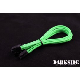 "Darkside 8-Pin PCI-E 12"" (30cm) HSL Single Braid Extension Cable - Green UV (DS-0237)"