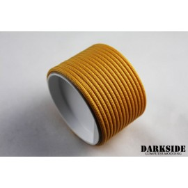 "Darkside 6mm (1/4"") High Density Cable Sleeving - Gold (DS-0433)"