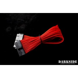 "Darkside 24-Pin ATX 12"" (30cm) HSL Single Braid Extension Cable - Red UV (DS-0181)"