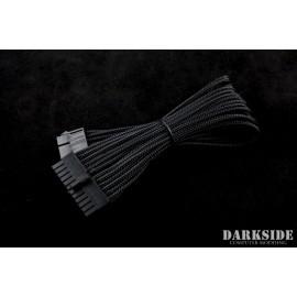 "Darkside 24-Pin ATX 12"" (30cm) HSL Single Braid Extension Cable - Jet Black (DS-0178)"