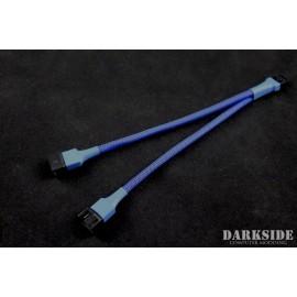 Darkside 4-Pin Dual Fan Power Y-Cable Splitter - Dark Blue UV (DS-0475)