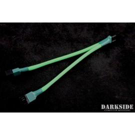 Darkside 4-Pin Dual Fan Power Y-Cable Splitter - Green UV (DS-0476)