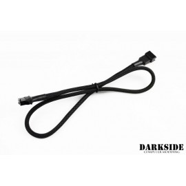 "Darkside 19.5"" (50cm) RGB Extension M/F Cable - Jet Black (DS-0503)"