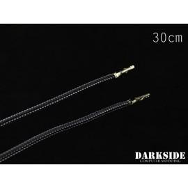 """Darkside 12"""" (30cm) Female-Female Pre-Sleeved ATX and PCI-E Wire – Graphite Metallic (DS-0655)"""