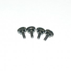 M3 x 6mm Black Motherboard Screws Bracket Style - 4 Pack (M3-6-MS-B4)