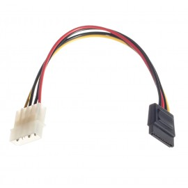 4-Pin Molex Peripheral Power Connector to SATA Power Adapter (4M-SATA-10)