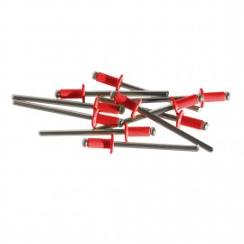 "ModMyMods 1/8"" (3mm) Domed Aluminum Rivets - Red - 10 Pack (MOD-0194)"
