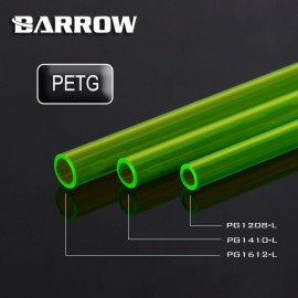 Barrow 12/8mm PETG Rigid HardTube (500mm) - Green (PG1208-L-GREEN)