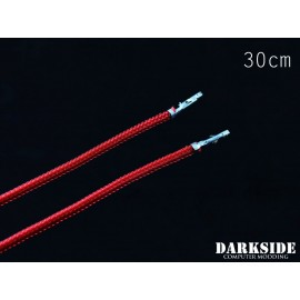 """Darkside 12"""" (30cm) Female-Female Pre-Sleeved ATX and PCI-E Wire – Red (DS-0658)"""