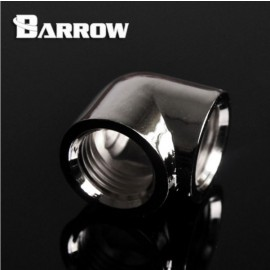 "Barrow G1/4"" 90 Degree Female to Female Angled Adaptor Fitting - Silver (TDWT90SN-V2-Silver)"