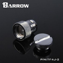 "Barrow G1/4"" Barbed Stop / Plug / Fillport Fitting (1/2"" ID) - Silver (TF4J-2-Silver)"