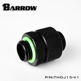 "Barrow G1/4"" 15mm Male to Male Extension Fitting with Micro Adjustment - Black (THDJ15-V1)"