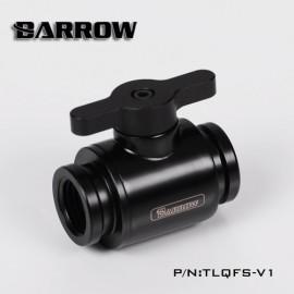 "Barrow G1/4"" Mini Ball Valve Fitting ""Metal Handle Version"" - Black/Black (TLQFS-V1)"