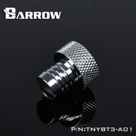 "Barrow G1/4"" Inner Thread to 3/8"" ID Barb Adaptor Fitting - Silver (TNYBT3-A01-Silver)"